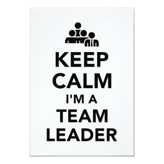 Keep calm I'm a team leader Card