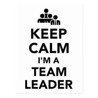 Keep calm I'm a team leader Postcard