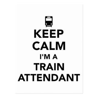 Keep calm I'm a train attendant Postcard