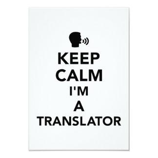Keep calm I'm a translator Card