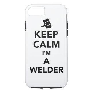 Keep calm I'm a welder iPhone 7 Case