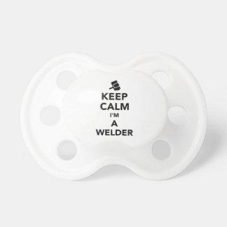 Keep calm I'm a welder Pacifier