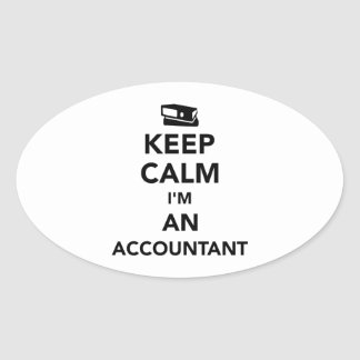 Keep calm I'm an accountant Oval Sticker