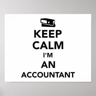 Keep calm I'm an accountant Poster