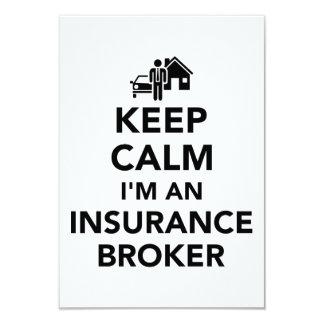 Keep calm I'm an insurance broker Card