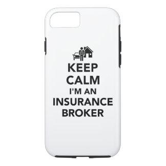 Keep calm I'm an insurance broker iPhone 8/7 Case