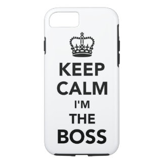 Keep calm I'm the boss iPhone 8/7 Case