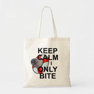 Keep Calm I Only Bite Bag