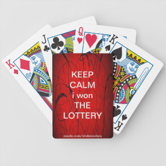 KEEP CALM i won THE LOTTERY Bicycle Playing Cards