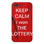 KEEP CALM i won THE LOTTERY Iphone Speck Case iPhone 4 Covers