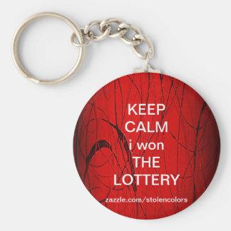 KEEP CALM i won THE LOTTERY Keychain