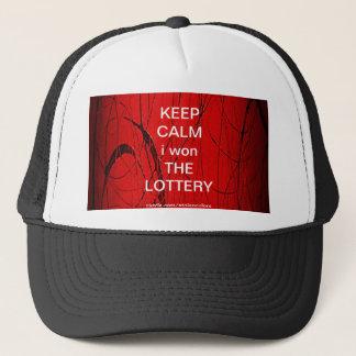 KEEP CALM i won THE LOTTERY Trucker Hat