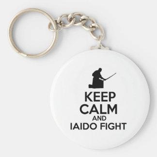 Keep calm Iaido designs Basic Round Button Keychain