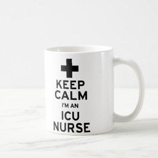Keep Calm ICU Nurse Coffee Mug