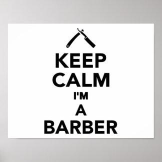Keep calm I'm a Barber Poster