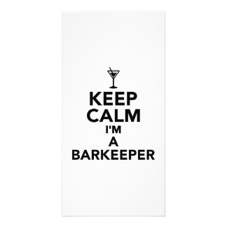 Keep calm I'm a Barkeeper Photo Card Template