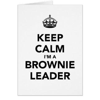 Keep Calm Im A Browne Leader Card