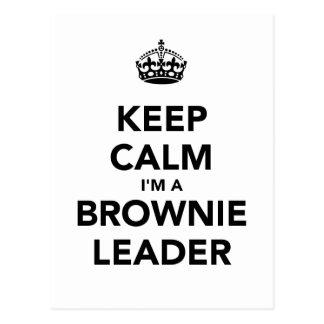 Keep Calm Im A Browne Leader Postcard