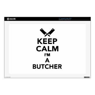 "Keep calm I'm a Butcher 17"" Laptop Skin"