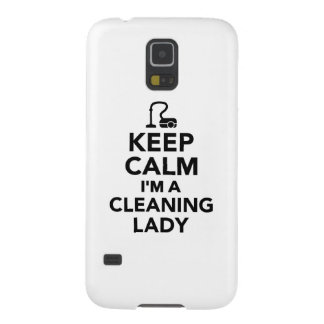 Keep calm I'm a cleaning lady Galaxy S5 Case