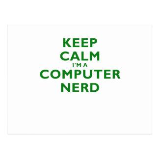 Keep Calm Im a Computer Nerd Postcard