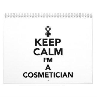 Keep calm I'm a Cosmetician Calendar