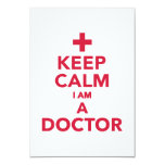 Keep calm I'm a doctor Custom Invitations