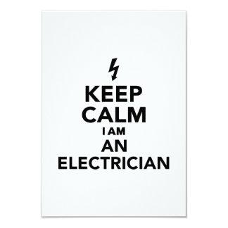Keep calm I'm a electrician 3.5x5 Paper Invitation Card
