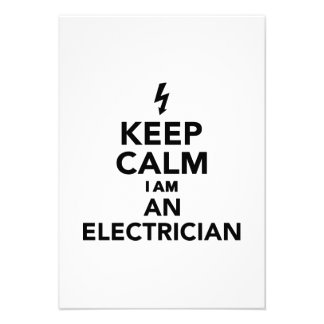 Keep calm I'm a electrician Personalized Invitation