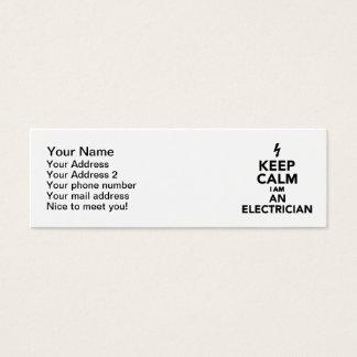 Keep calm I'm a electrician Mini Business Card