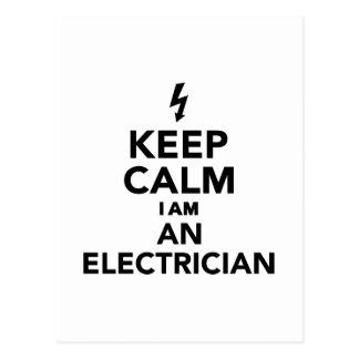 Keep calm I'm a electrician Postcard