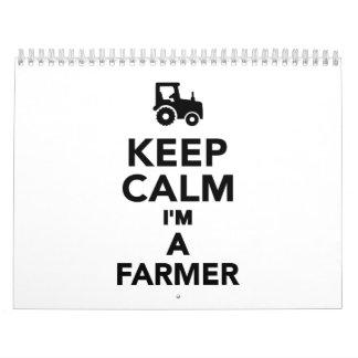 Keep calm I'm a Farmer Calendar