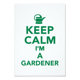 Keep calm I'm a Gardener Personalized Invite