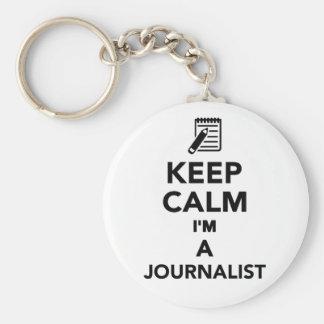 Keep calm I'm a Journalist Keychain