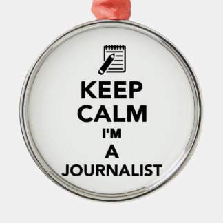 Keep calm I'm a Journalist Ornaments