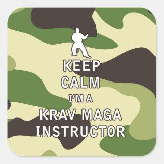 Keep Calm I'm a Krav Maga Instructor Square Sticker