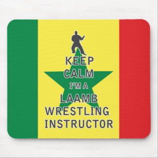 Keep Calm I'm a Laamb Wrestling Instructor Mouse Pad