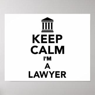Keep calm I'm a lawyer Print