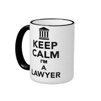 Keep calm I'm a lawyer Ringer Mug