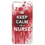 Keep Calm I'm a Nurse Blood-Spatted iPhone 5 Case