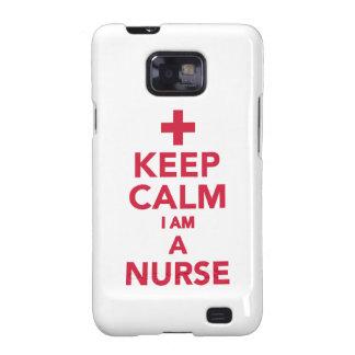Keep calm I'm a nurse Galaxy S2 Cases
