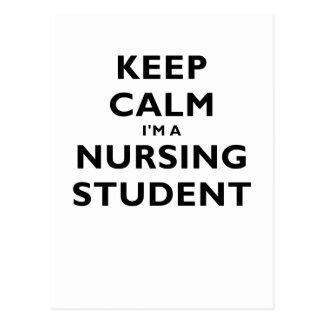 Keep Calm Im a Nursing Student Post Card