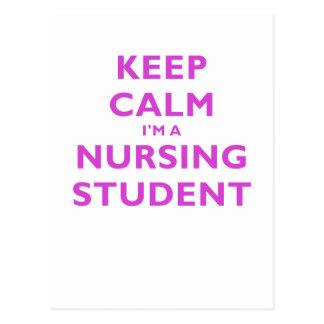 Keep Calm Im a Nursing Student Postcard