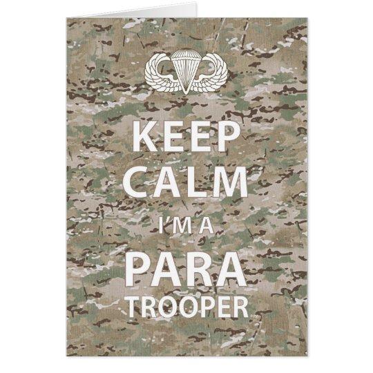 Keep Calm - I'm a Paratrooper Card