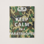 Keep Calm - I'm a Paratrooper Puzzle