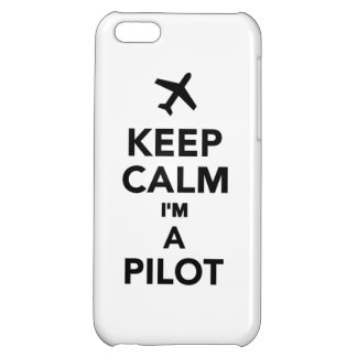 Keep calm I'm a Pilot Cover For iPhone 5C