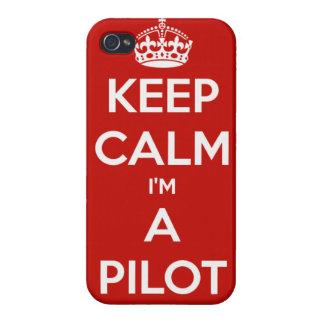 KEEP CALM I'M A PILOT iPhone4 Case