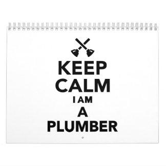 Keep calm I'm a Plumber Calendar