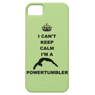 keep calm I'm a powertumbler iPhone 5/5S case