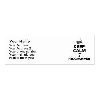 Keep calm I'm a Programmer Business Card Templates